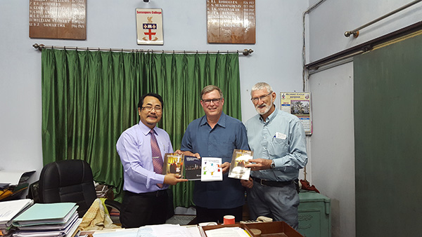Dr David Swarr with Orality Materials at Serampore College