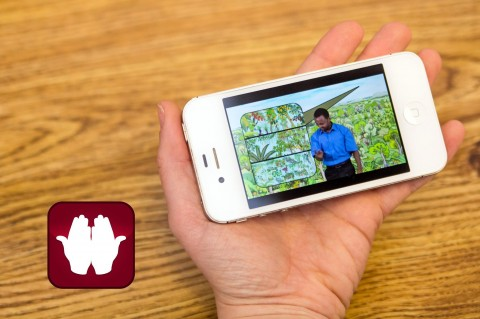 Deaf Bible recordings are available on their app and at www.deaf.bible (Photo courtesy of the Deaf Bible Society)